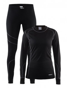 Craft | Baselayer Set Women Black/Granite |