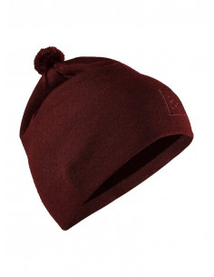 Craft | Practice Knit Hat Rhubarb |